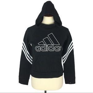 Girl's Adidas Black & White Classic Hoodie